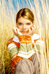 girl in golden grass